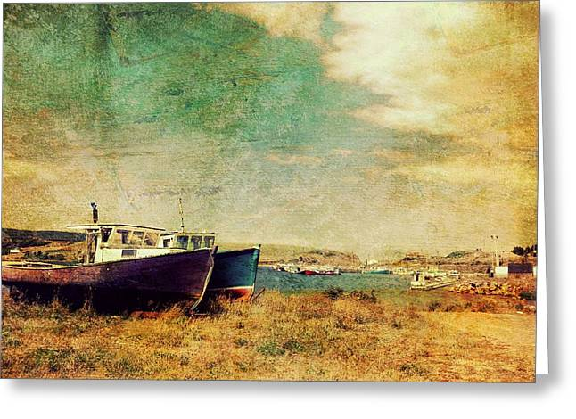 Boat Dreams on a Hill Greeting Card by Tracy Munson