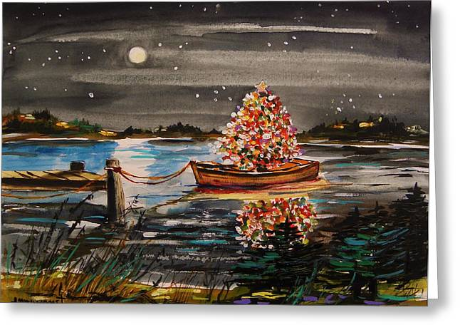 Boat Filled With Light Greeting Card by John Williams