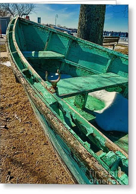 Seafarer Greeting Cards - Boat - Forever Dry Docked Greeting Card by Paul Ward