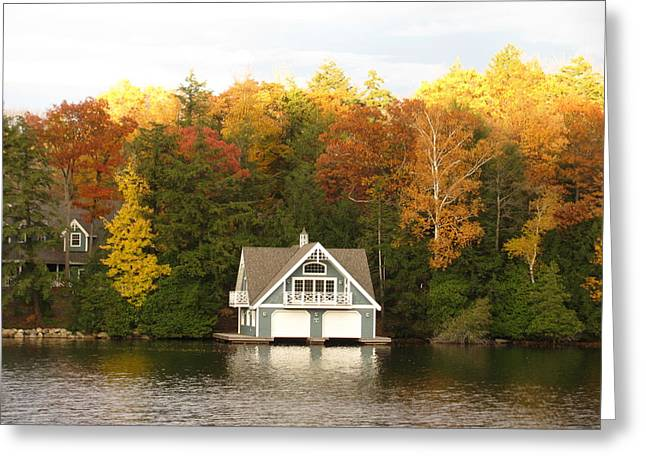 Lamdscape Greeting Cards - Boat House Greeting Card by Alfred Ng