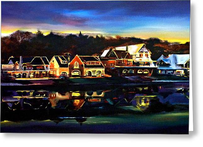 Boat House Row Greeting Cards - Boat House Row Greeting Card by Kevin Brown