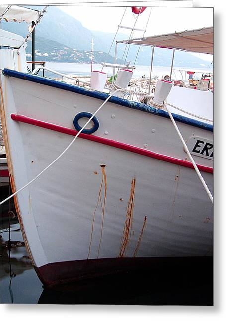 Fishing Boats Greeting Cards - Boat Hull Greeting Card by Tamyra Crossley
