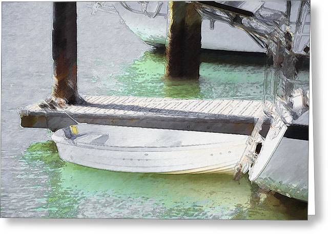 Water Vessels Greeting Cards - Boat in a port 1 Greeting Card by Lanjee Chee