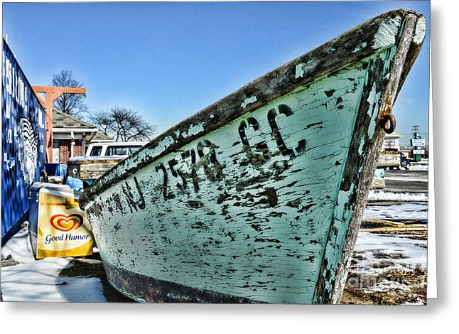 Row Boat Greeting Cards - Boat - In a State of Decay Greeting Card by Paul Ward