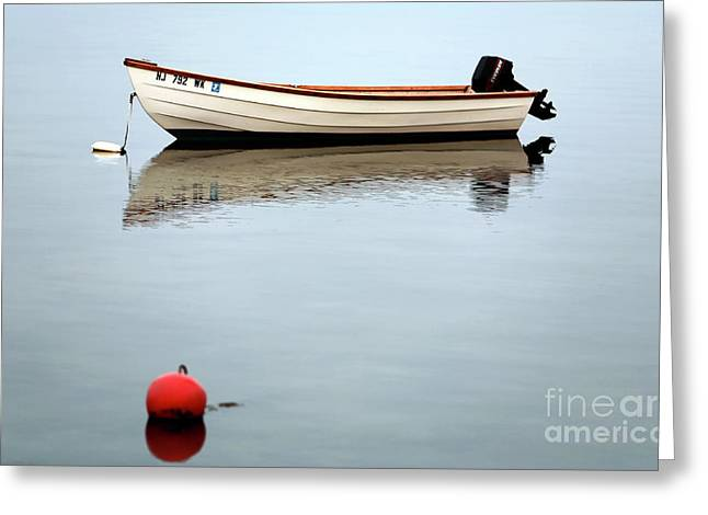 Boats In Water Photographs Greeting Cards - Boat in the Bay Greeting Card by John Rizzuto