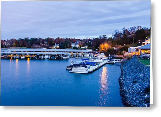 Lake Wylie Greeting Cards - Boat Marina On Lake Wylie In North Carolina  Greeting Card by Alexandr Grichenko