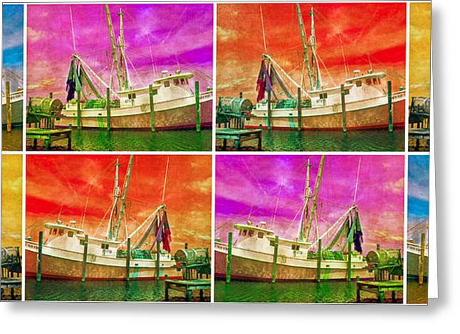 Trawler Greeting Cards - Boat of a Different Color Greeting Card by Betsy C  Knapp