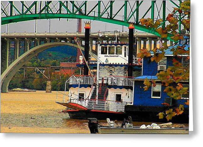 Tennessee River Greeting Cards - Boat on the Tennessee River Greeting Card by Joyce Kimble Smith