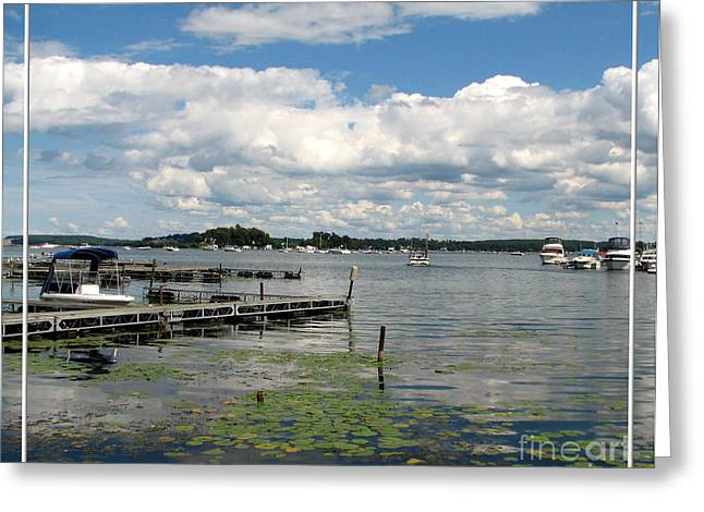 Santuci Greeting Cards - Boat Pier on Lake Ontario Greeting Card by Rose Santuci-Sofranko