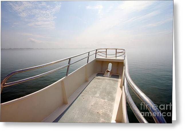 Cape Cod Tourism. Greeting Cards - Boat Prow Greeting Card by Tim Holt