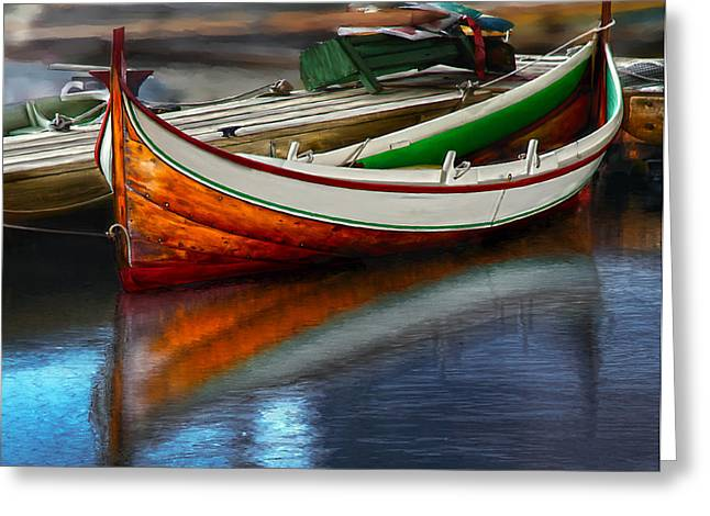 Row Boat Greeting Cards - Boat Greeting Card by Rick Mosher