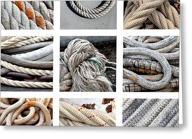 Fraying Greeting Cards - Boat Ropes Greeting Card by Art Block Collections