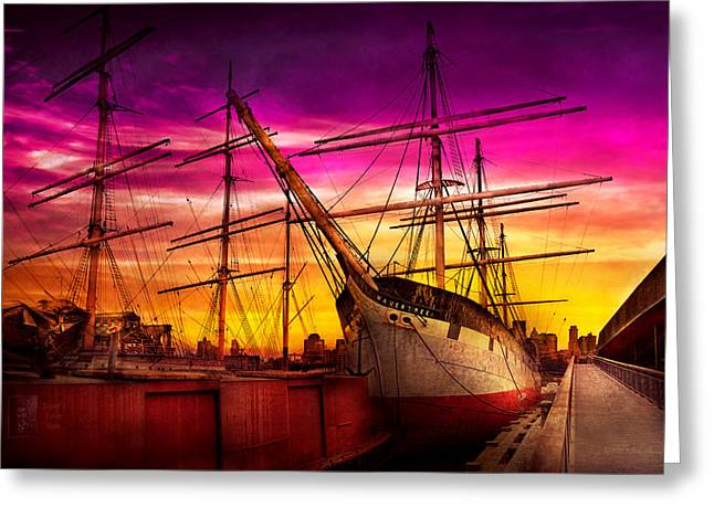 Name Gifts Greeting Cards - Boat - Sailing - Fleet week Greeting Card by Mike Savad