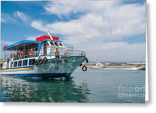 Tavira Greeting Cards - Boat to Tavira Island Greeting Card by Luis Alvarenga