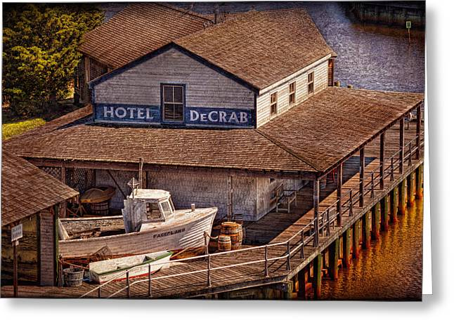 Ahoy Greeting Cards - Boat - Tuckerton Seaport - Hotel DeCrab  Greeting Card by Mike Savad
