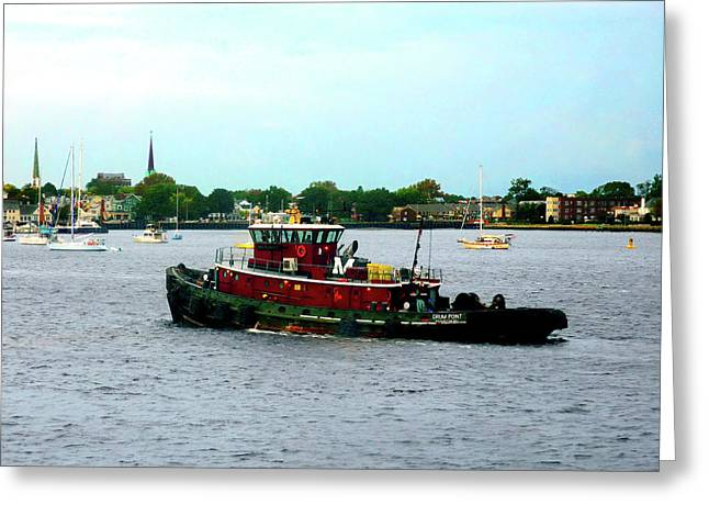 Boats Greeting Cards - Boat - Tugboat Norfolk Virginia Greeting Card by Susan Savad