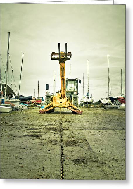 Yachting Photographs Greeting Cards - Boat winch Greeting Card by Tom Gowanlock