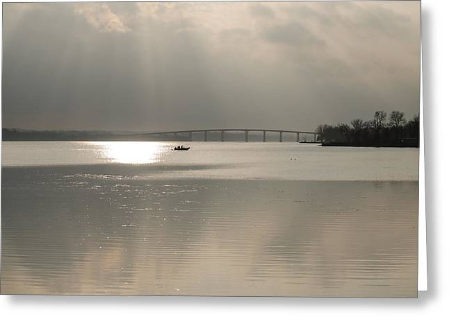 Boaters On The Bay Of Quinte Greeting Card by Shane Laing