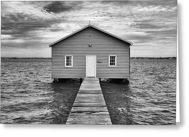 Niel Morley Greeting Cards - Boathouse Greeting Card by Niel Morley