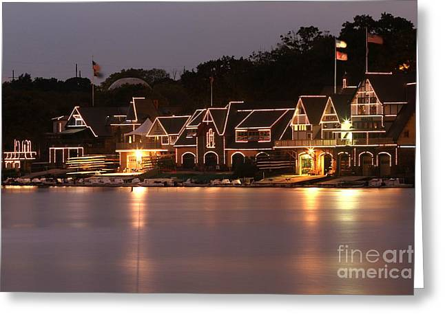 Phillies Photographs Greeting Cards - Boathouse Row Greeting Card by CJ McKendry