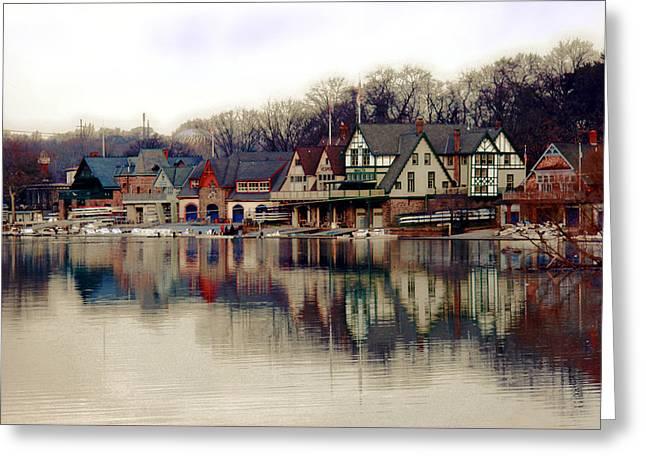 BoatHouse Row Philadelphia Greeting Card by Tom Gari Gallery-Three-Photography