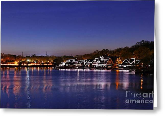 Raymond Grenald Greeting Cards - Boathouse Row Philly Greeting Card by John Greim