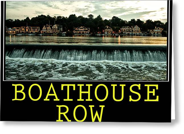 Phillies Posters Greeting Cards - Boathouse Row Poster Greeting Card by Bill Cannon