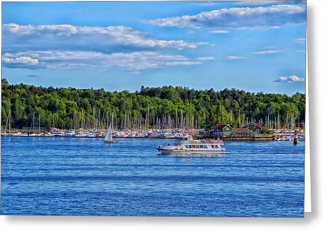 Oslo Photographs Greeting Cards - Boating in Oslo Norway Greeting Card by Mountain Dreams