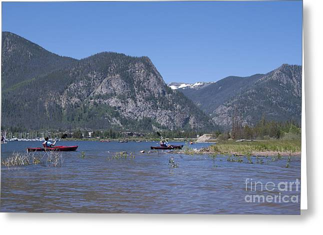 Canoe Greeting Cards - Boating on Lake Dillon Greeting Card by Juli Scalzi