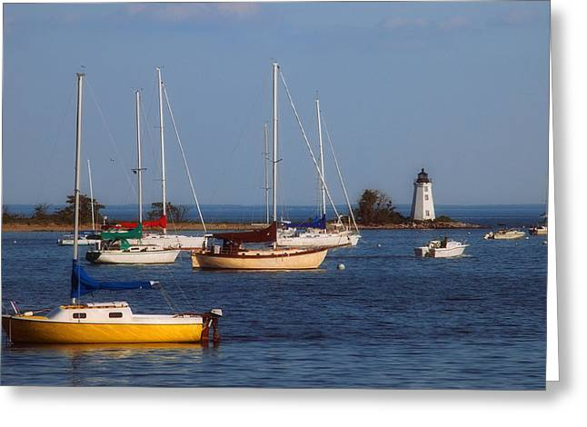 Boating On Long Island Sound Greeting Card by Joann Vitali