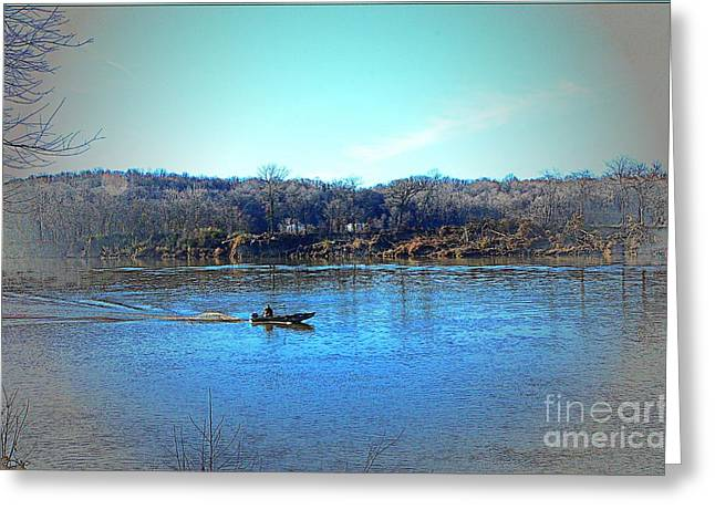 Kathleen Hill Greeting Cards - Boating On The Cumberland Greeting Card by Kathleen Struckle
