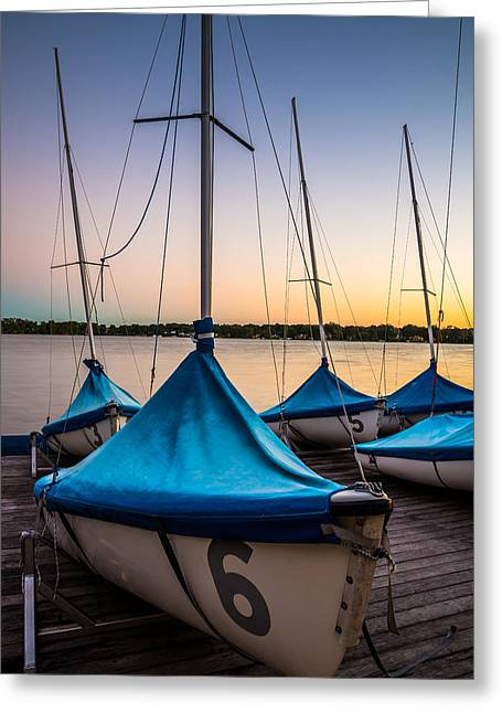 Sailboat Art Greeting Cards - Boating Year Round Greeting Card by Clay Townsend