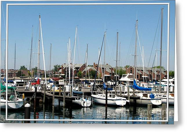 Masts Greeting Cards - Boats and more boats in Buffalo Greeting Card by Rose Santuci-Sofranko