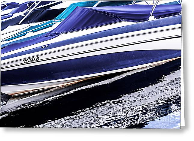 Boats and reflections Greeting Card by Elena Elisseeva