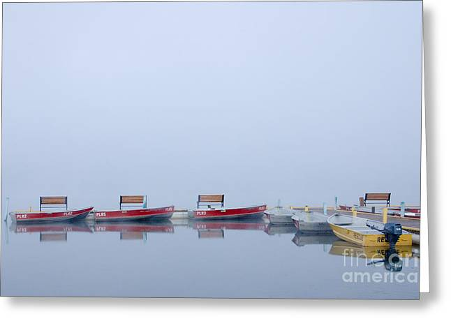Canada Photographs Greeting Cards - Boats at a dock Greeting Card by Oscar Gutierrez