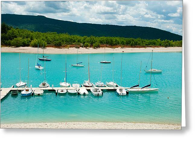 Croix Greeting Cards - Boats At A Harbor, Port Margaridon Greeting Card by Panoramic Images