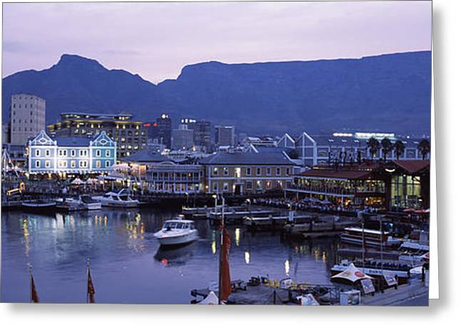 Cape Town Greeting Cards - Boats At A Harbor, Victoria And Alfred Greeting Card by Panoramic Images