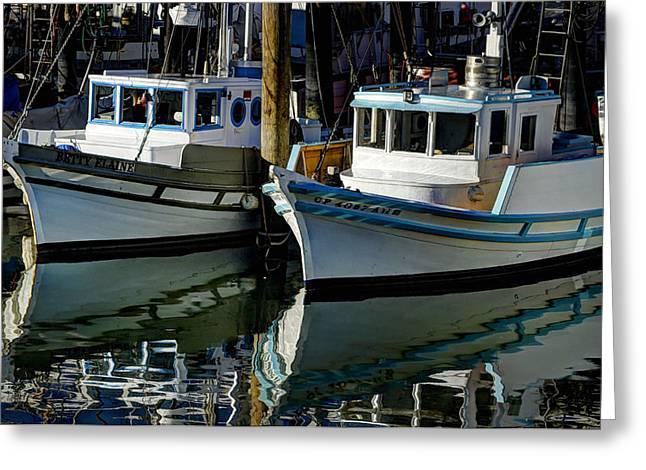 Boats At Dock Greeting Cards - Boats At Dock Greeting Card by Mark Langford