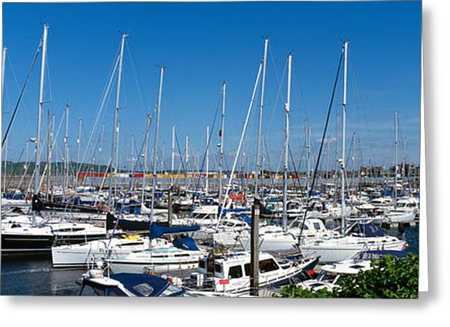 Ayrshire Greeting Cards - Boats At Marina, Troon, South Ayrshire Greeting Card by Panoramic Images