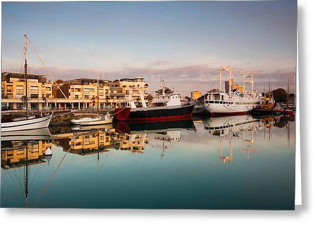 Docked Sailboat Greeting Cards - Boats At Maritime Museum, La Rochelle Greeting Card by Panoramic Images