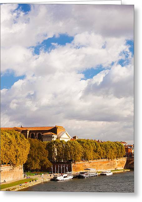 Midi Greeting Cards - Boats At Quai De La Daurade, Toulouse Greeting Card by Panoramic Images
