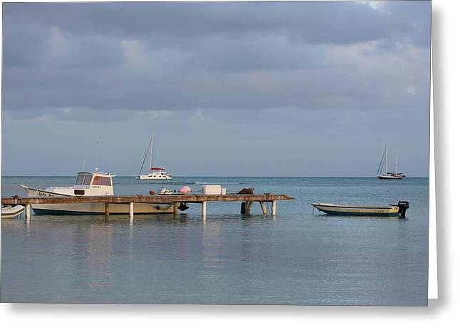 Boats At Rest Greeting Card by Eric Glaser
