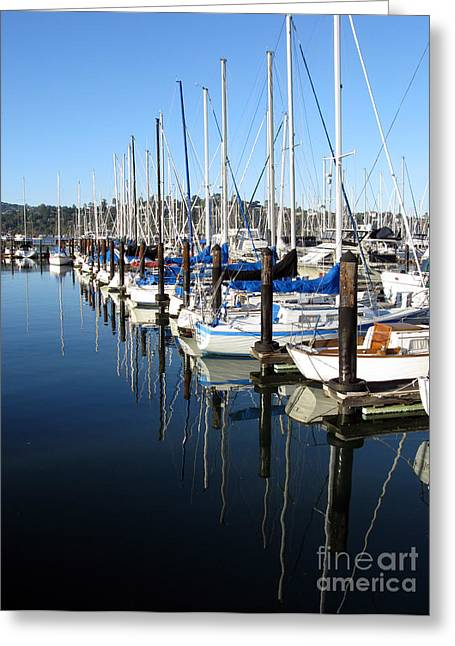 Best Sellers -  - California Tourist Spots Greeting Cards - Boats At Rest. Sausalito. California. Greeting Card by Ausra Paulauskaite
