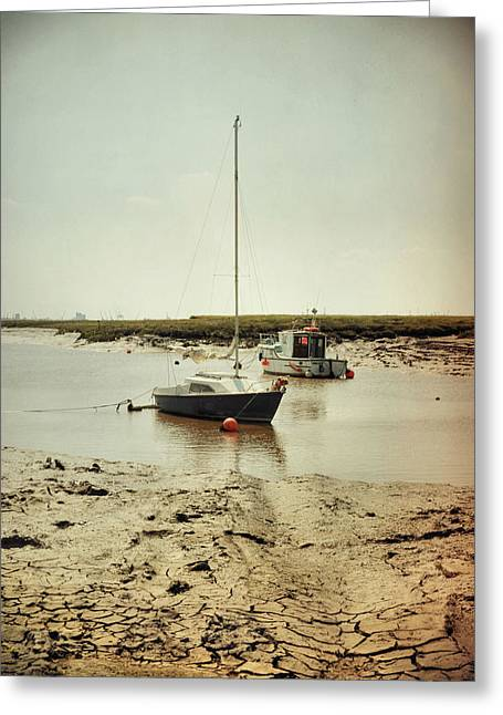 Stoney Creek Greeting Cards - Boats at Stoney Creek Greeting Card by Sarah Couzens