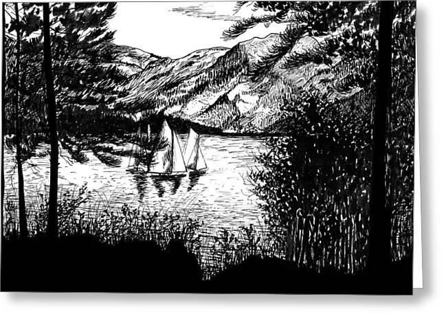 Boats Greeting Card by Carl Genovese