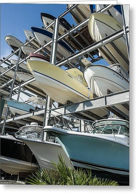 Ocean Springs Yacht Club Greeting Cards - Boats. Charleston. Greeting Card by Oleg Koryagin