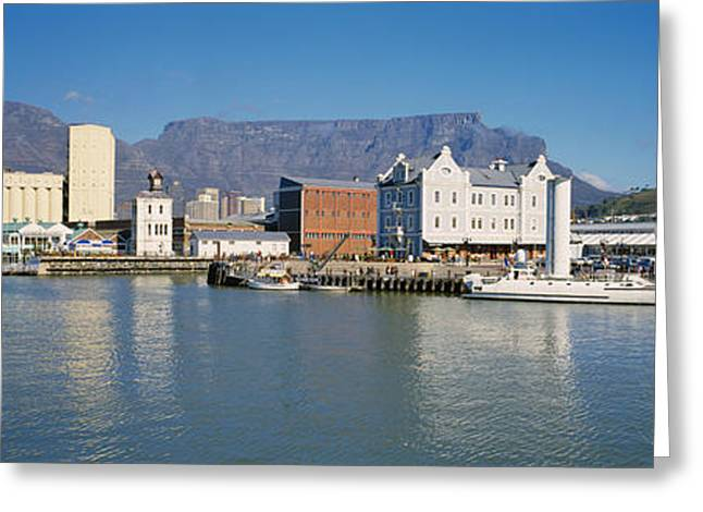 Cape Town Greeting Cards - Boats Docked At A Harbor, Cape Town Greeting Card by Panoramic Images