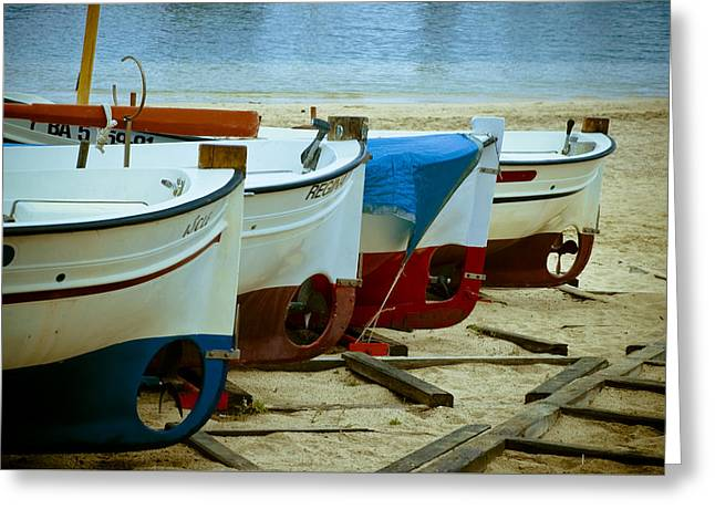 Beachscape Greeting Cards - Boats Greeting Card by Frank Tschakert