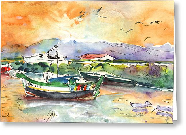 Boats In Carrasqueira In Portugal 03 Greeting Card by Miki De Goodaboom