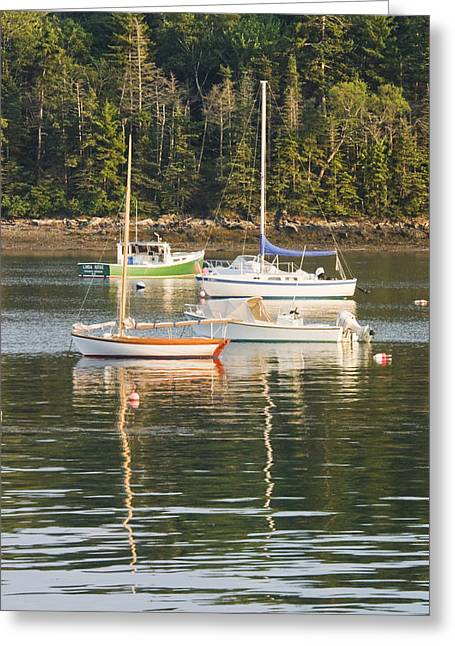 Scenic New England Greeting Cards - boats In Tenants Harbor Maine Greeting Card by Keith Webber Jr